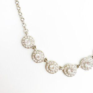 Jewelry - Silver Diamond Necklace in Circular Shape